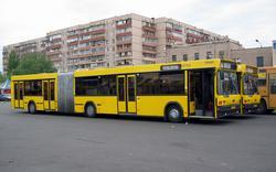 МАЗ-105 на отстое на маршруте № 45